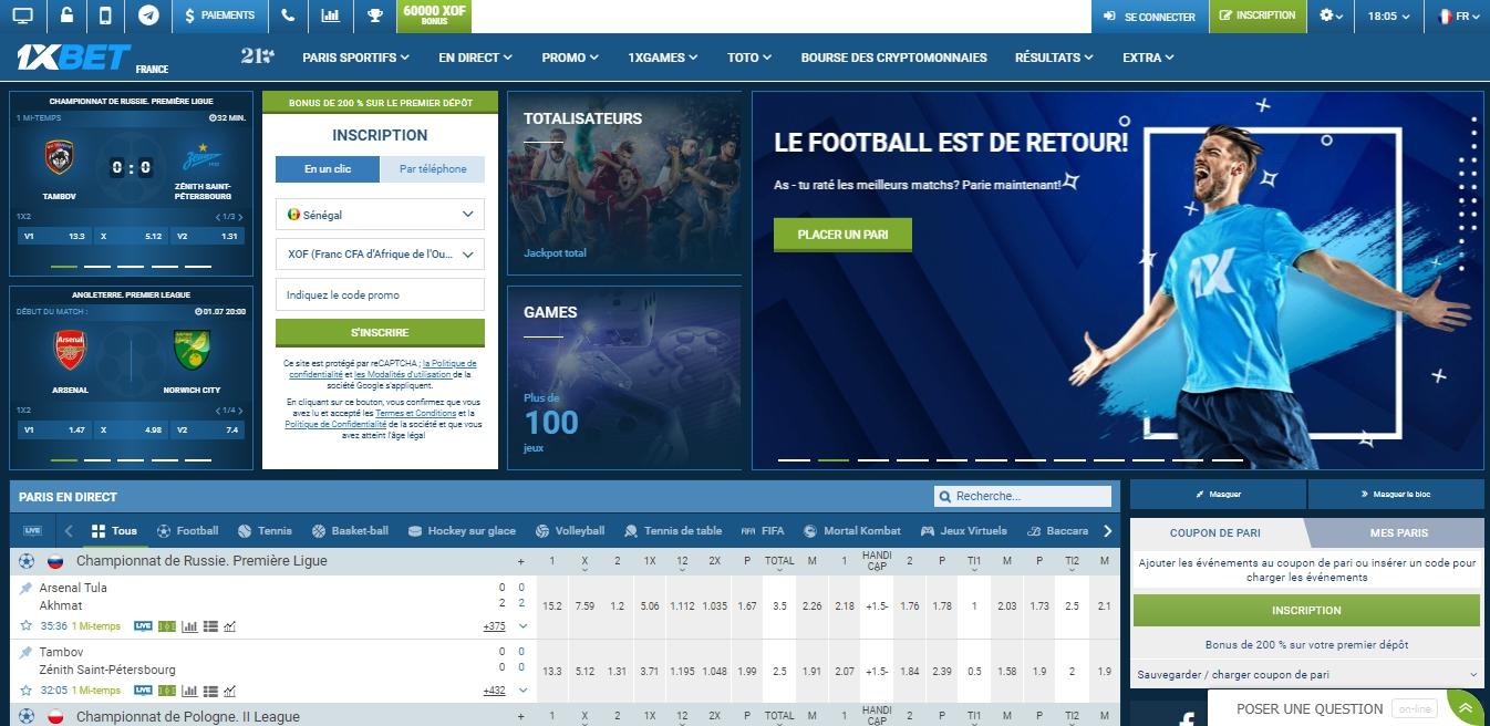 1XBET Benin site officiel
